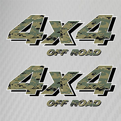4x4 Truck Off Road Decals USMC Marine Corps Camo Ford Chevy GMC Dodge Toyota