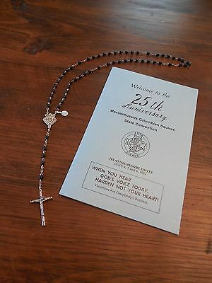 Knights of Columbus 1982 Massachusetts Convention Program and Rosary