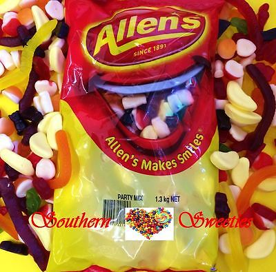 ALLENS PARTY MIX 1.3KG BULK LOLLIES mixed lollies ORIGINAL PARTY MIX
