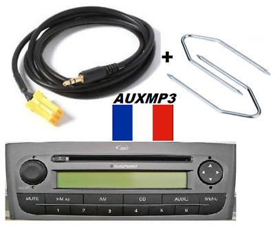 cable auxiliaire aux pour brancher sur autoradio fiat bravo 2008 ipod mp3 eur 90 00. Black Bedroom Furniture Sets. Home Design Ideas