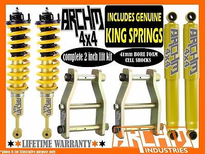 TOYOTA HILUX KUN/GGN 05-ON ARCHM4X4 / KING SPRING 2INCH 50mm SUSPENSION LIFT KIT