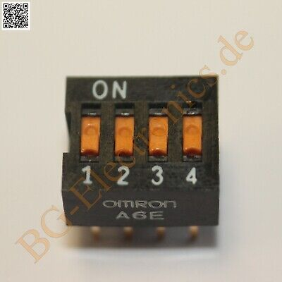 2 x DIPS-4POL Box-shaped DIP Switch with Through hole Termin Omron DIP-8 2pcs