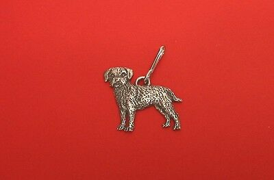 Border Terrier Pewter Zipper Pull Mum Dad Vet Christmas Useful Gift Free Pouch