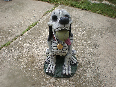 "Zombie Skeleton Dog  Halloween Prop Yard Lawn  Scary Outdoor Spooky 17"" TALL"
