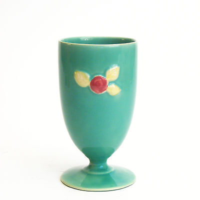 Coors Pottery Rosebud Footed Goblet Green Robert Schneider Collection Colorado