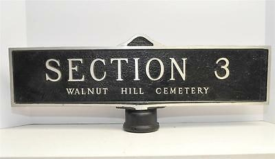Authentic Halloween Grave Yard Cemetery Street Signs Markers Cemetery  Reject