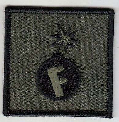 F BOMB,  Police Military Morale Patch, Olive Drab, full hook backing