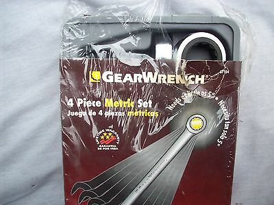 NEW ! 4PC LARGE METRIC GEARWRENCH SET