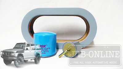 Nissan Patrol GQ 4.2 TB42E  petrol Oil A444 Air  Fuel filter service kit 87-98