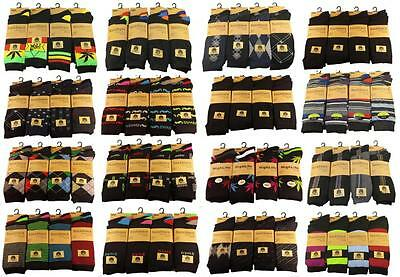 12 Pairs Of Men's Designer Socks, SockStack Cotton Rich Socks, Size 6-11