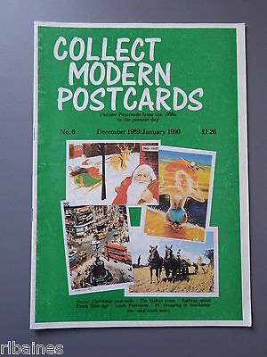 R&L: Collect Modern Postcards Magazine No.06 Dec 1989 Frank Burridge/Military