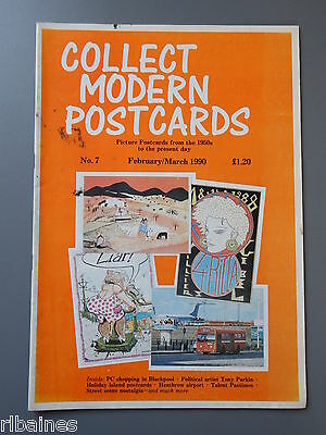 R&L: Collect Modern Postcards Magazine No.07 Feb 1990 Tony Parkin/Isle of Man
