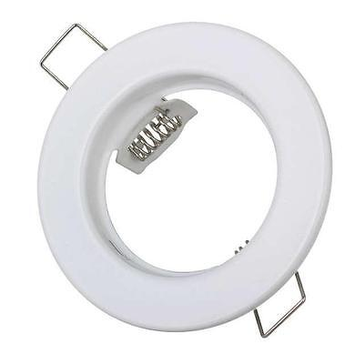 Fixed White Recessed GU10 Ceiling Downlight Spot Light Fitting Metal Round Light