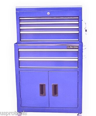 106 US PRO BLUE TOOLS AFFORDABLE TOOL CHEST BOX ROLLCAB TOOL BOX ROLLER CABINET