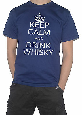 NEW Keep Calm and Drink WHISKY - Funny T-SHIRT!