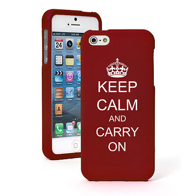 For Apple iPhone 6/6 Plus Rubber Hard 2 Piece Case Cover Keep Calm and Carry On