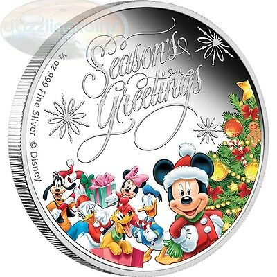 The Mickey Mouse & Friends Seasons Greetings 2014 Niue Silver Proof