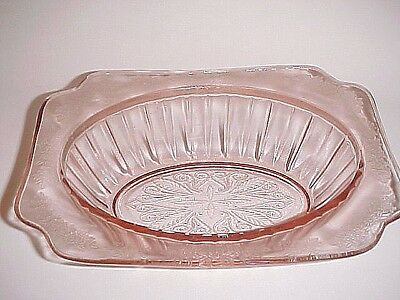 Pink Adam Oval Vegetable Bowl / Jeannette Glass Co