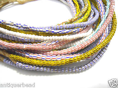 AFRICA TRADE BEADS GHANA MIX SMALL OLD BEADS  WITH A DIFFERENT COLOR 10 st