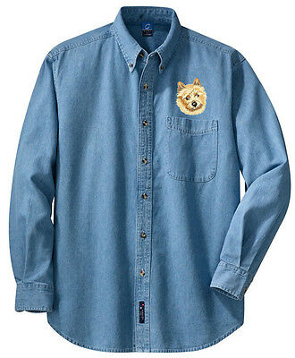 Norwich Terrier Embroidered Denim Shirt - Sizes XS thru XL
