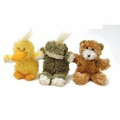 KONG DR NOYS SQUEAKY DOG SOFT TOY PUPPY TOY EXTRA SMALL BEAR or DUCK