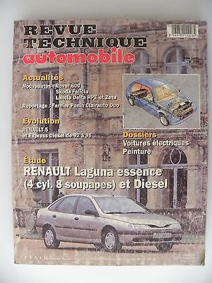 revue technique automobile RTA Renault Laguna essence 4 cyl. 8 soupapes + diesel
