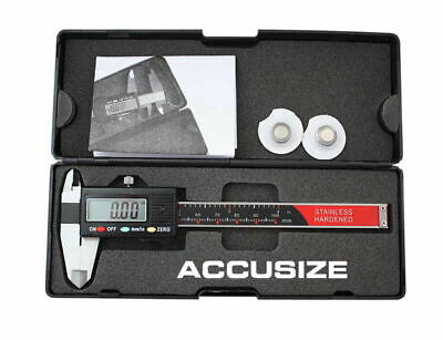 "0-4""x0.0005"" 3 Key Electronic Digital Caliper with Extra Large LCD, #AB11-1104"