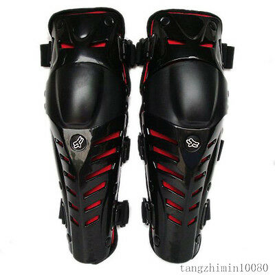 The Latest FOX RAPTOR Knee/Shin GUARD armor Protector/TKR - Red&Black