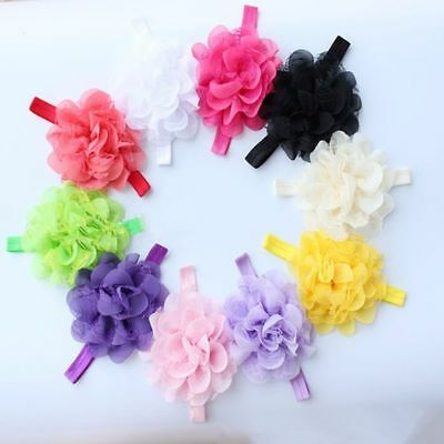 10pcs Girl Headbands Baby Flower Bands Toddler Infant Kids Hair Bow Baby Bands