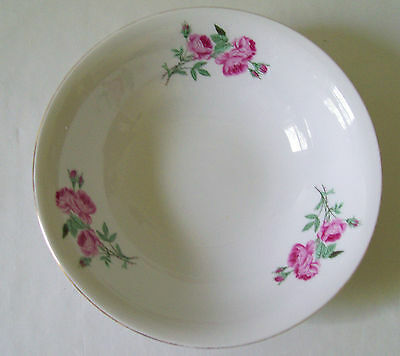 LOVELY CHINA BOWL WITH ROSE PATTERN STAMPED MADE IN CHINA