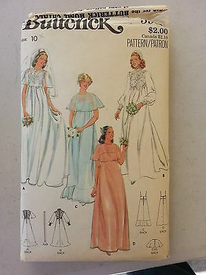 BUTTERICK SEWING PATTERN 5939  WEDDING GOWN 4 VIEW  love is in the air! size 10
