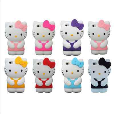 New Hello Kitty 3D Gel Silicone Soft Rubber Case Cover For iPhone 6 & 6 Plus