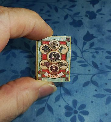 """Dollhouse Miniature Book """"BOOK OF DOGS""""! Hardback Covered Coffee Table Book!"""