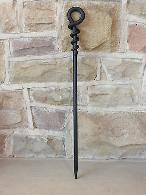 Hand Forged Wrought Iron Fire Poker - Open Fire Contemporary Style