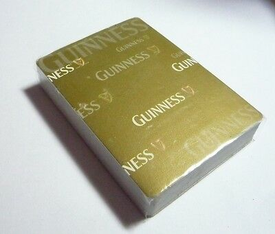 MALAYSIA Playing Cards GUINNESS STOUT Gold White Pack Sealed 2010 No Box