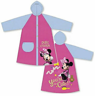 Disney Minnie Mouse - Children's Raincoat Pink & Blue Waterproof PVC