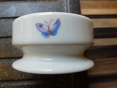Vintage Early Limoges Castel France Small Dish -Butterfly- Green Limoges Mark