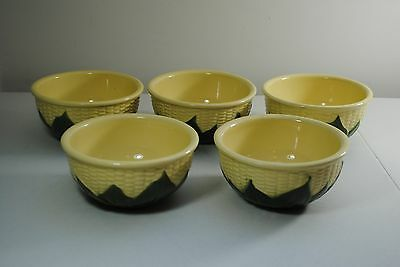 Five Vintage Shawnee Pottery Queen Corn Cereal/Soup Bowls - #6