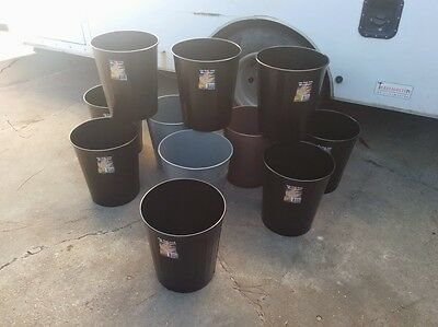 Set of 5 Fire Safe Steel Wastebaskets by Safco and other Manufacturers