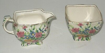 Vintage Royal Winton Chintz  Sugar & Creamer Queen Ann