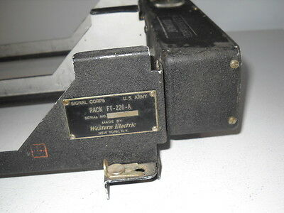 ARC5 Signal Corps FT-226A Command Transmitter Rack for 2 Transmitters, Nice