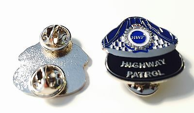 Highway Patrol Cap With Silver Band Pin, Police, Law Enforcement, 1 x Item