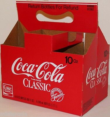 Vintage soda pop bottle carton COCA COLA CLASSIC unused new old stock n-mint