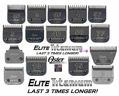 OSTER A5 ELITE TITANIUM CryogenX Blade*Fit Andis AG BG,Most Wahl,Laube Clipper