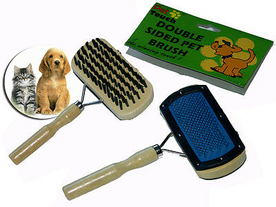 Pet Brush Dog Puppy Rabbit Cat Double Side Groom Combing Bristles Pins Wooden
