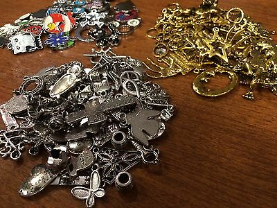 50Piece Charm Assortment Mix Silver,Gold,Enamal Make Your Own Jewelry
