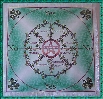 Sabbats Scrying/Dowsing Mat ideal for use with a pendulum Wicca divination