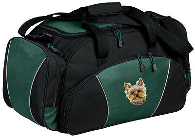 Yorkshire Terrier Yorkie Embroidered Duffel Bag