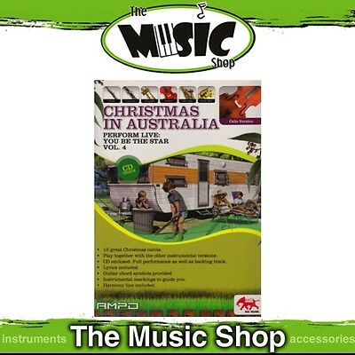 New Perform Live: Christmas in Australia for Cello Music Book & CD