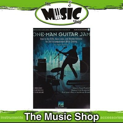 New One Man Guitar Jam Music Tuition Book & Online Audio